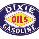 DIXIE OILS-GASOLINE OVAL SIGN RETRO ADV SIGNS D