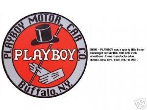 PLAYBOY MOTOR CAR CO. SIGN BUFFALO N.Y. METAL SIGNS P