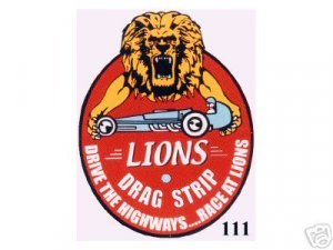 LIONS DRAG STRIP SIGN METAL ADV AD RACING SIGNS L