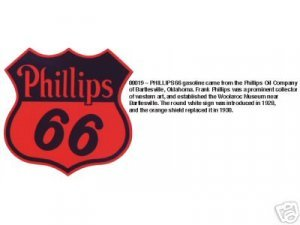 PHILLIPS 66 SHIELD SIGN METAL ADV GAS OIL SIGNS P