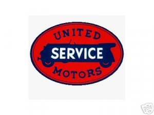 UNITED SERVICE SIGN RETRO METAL ADV AD SIGNS U