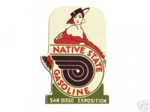 NATIVE STATE GASOLINE SIGN NEW METAL ADV SIGNS N