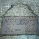 CAST IRON APPLES SIGN METAL ADV SIGNS A