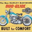 HARLEY DAVIDSON DUO-GLIDE MOTORCYCLE TIN SIGN H