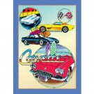 CORVETTE TIN SIGN RETRO METAL ADV SIGNS C