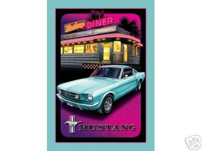 MUSTANG TIN SIGN RETRO METAL ADV SIGNS M