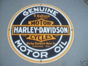 PORCELAIN-COATED MOTORCYCLE SIGN H