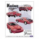 MUSTANG  30 YEARS TIN SIGN METAL ADV SIGNS M