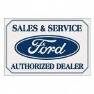 FORD SALES & SERVICE TIN SIGN METAL ADV SIGNS