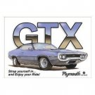 PLYMOUTH GTX TIN SIGN METAL ADV SIGNS G
