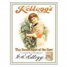 KELLOGG'S TOASTED CORN FLAKES TIN SIGN METAL ADV SIGNS K