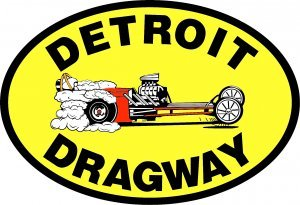 DETROIT DRAGWAY SIGN METAL ADV SIGNS D