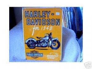 HARLEY DAVIDSON for 1940 NEW BIKER BAR SIGN H