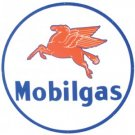 MOBILGAS PEGASUS BAKED ENAMEL SIGN LARGE 25.5