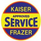 KAISER FRAZER SIGN STEEL SIGN METAL ADV CAR AD SIGNS K