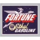 FORTUNE ETHYL GASOLINE gas service station HEAVY STEEL SIGN HOME garage DECOR