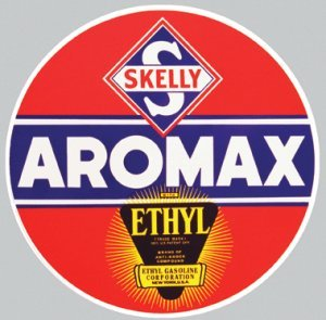 SKELLY AROMAX STEEL SIGN METAL RETRO GAS & OIL SIGNS S