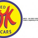 OK USED CARS SIGN METAL ADV CAR SIGNS U