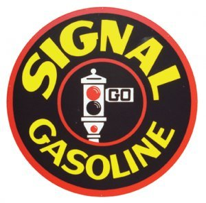 SIGNAL GASOLINE SIGN LARGE METAL ADV GAS OIL SIGNS S