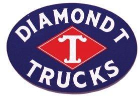 """DIAMOND T TRUCKS 25.5"""" SIGN METAL ADV AD SIGNS NIB D"""