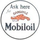 """GARGOYLE MOBILOIL HEAVY STEEL BAKED ENAMEL SIGN 25.5"""""""