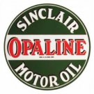SINCLAIR OPALINE MOTOR OIL HEAVY STEEL SIGN BAKED ENAMEL 25.5""