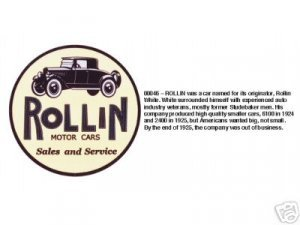 ROLLIN SALES AND SERVICE SIGN METAL ADV AD SIGNS R