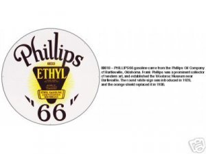 PHILLIPS 66 ETHYL SIGN METAL ADV GAS OIL SIGNS P