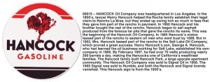 HANCOCK GASOLINE SIGN METAL ADV GAS OIL SIGNS H