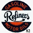 GASOLINE REFINERS MOTOR OILS SIGN  GAS METAL SIGNS G