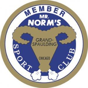 MR. NORM'S SPORT CLUB SIGN LARGE METAL ADV SIGNS NIB N