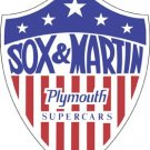 SOX & MARTIN PLYMOUTH SUPER CAR STEEL SIGN METAL SIGNS