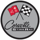 CHEVROLET CORVETTE STING RAY STEEL SIGN METAL CAR ADV S