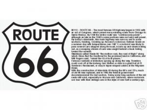 LARGE ROUTE 66 CAR HIGHWAY SIGN METAL ADV SIGNS R