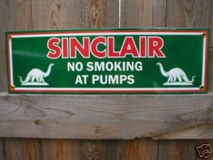 SINCLAIR PORCELAIN-COATED SIGN METAL ADV AD SIGNS S