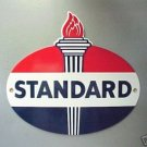 Standard Oil Torch Porcelain Coat Sign Vintage Look Man Cave Decor