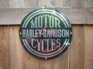 HD MOTORCYCLES SIGN BIKER RETRO SIGNS H