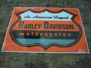 HD MOTORCYCLES SIGN METAL ADV RETRO SIGNS
