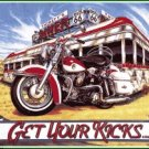 GET YOUR KICKS PORCELAIN SIGN DINER METAL SIGNS T