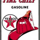 TEXACO FIRE CHIEF PORCELAIN-OVERLAY SIGN METAL SIGNS T