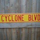 CYCLONE BLVD STREET SIGN RETRO ADV AD SIGNS C