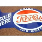 PEPSI COLA FLANGE TIN SIGN
