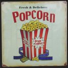 POPCORN TIN SIGN METAL RETRO ADV SIGNS P