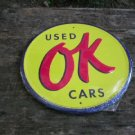OK USED CARS SIGN METAL RETRO ADV SIGNS O