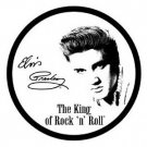 ELVIS PRESLEY ROUND TIN SIGN
