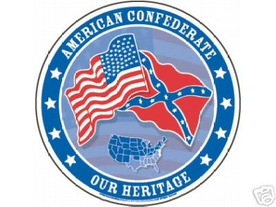 AMERICAN CONFEDERATE TIN SIGN  METAL ADV SIGNS