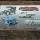 CADILLAC COLLAGE TIN SIGN  METAL ADV SIGNS