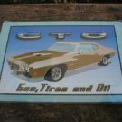 GTO TIN SIGN  METAL ADV SIGNS