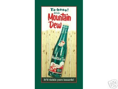 MOUNTAIN DEW TIN SIGN METAL ADV SIGNS