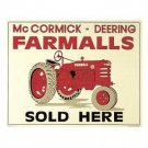 McCORMICK- DEERING FARMALLS TIN SIGN METAL SIGNS F